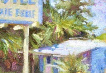 Painting of Dixie Belle Motel