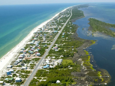 Ariel View of Sunset Reflection Vacation Rentals on Cape San Blas